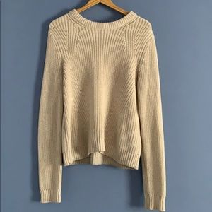 H&M Cream Chunky Knit Sweater